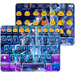 Aquarius Emoji Keyboard theme