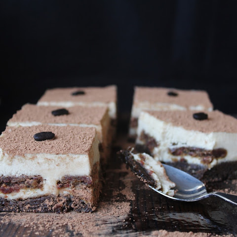 Decadent Raw Vegan Tiramisu with Coffee Ladyfingers