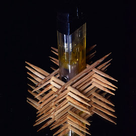 Match inside toothpicks stack by Wartono - - Novices Only Objects & Still Life ( macro art, up close, macro, matches, reflection, stacked, macro photography, match, stack, toothpick, macro shot )