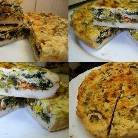 THE «CAKE» OF CHICKEN AND SPINACH