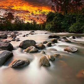 the river by Hadi Kurniawan - Landscapes Waterscapes ( water sunset river )