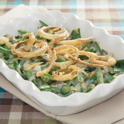 Green Bean Casserole With Homemade French Fried Onions