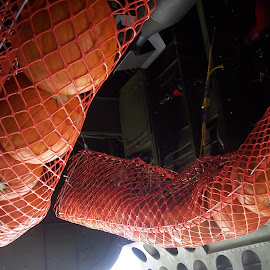Pumpkin Drop by Sandy Stevens Krassinger - Food & Drink Ingredients ( netting, abstract, orange, patterns,  )