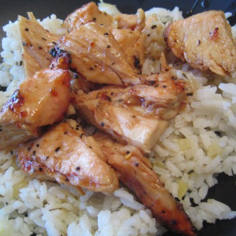 Sticky Coconut Chicken With Chili Glaze and Coconut Rice