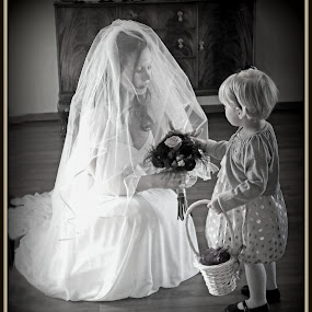 Just a Moment by Teresa Delcambre - Wedding Other ( wedding, wedding dress, bride, flower girl )