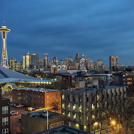 Seattle Skyline by Robert Gallucci - Instagram & Mobile iPhone ( seattle, night, cityscape, landscape, iphone )