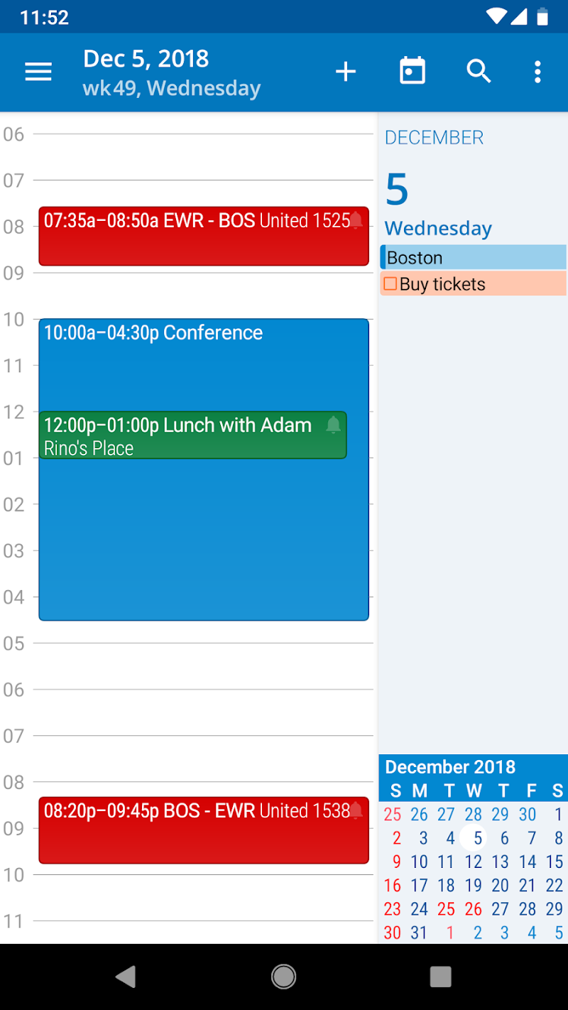 aCalendar+ Calendar & Tasks Screenshot 1