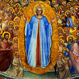 fresco padua baptistery by Zdenka Rosecka - Artistic Objects Other Objects (  )