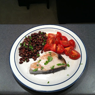Tuna Steaks & Black Beans