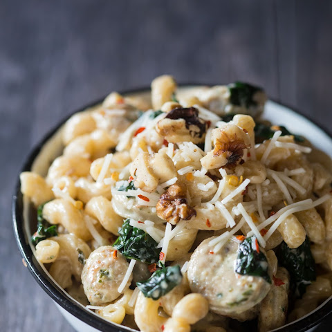 Creamy Chicken-Sausage and Spinach Pasta