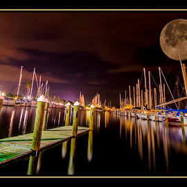 Super Moon by James Eickman - Digital Art Places ( city at night, street at night, park at night, nightlife, night life, nighttime in the city )