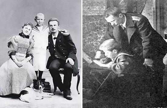 П.П.Шмидт с женой и сыном Евгением
