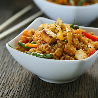 Vegetarian dirty Thai fried quinoa