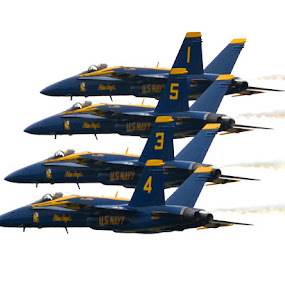 QCAS 700 feet 1 by Greg Harrison - Transportation Airplanes ( fa18, air shows, blue angel performance, blue angels, quad city air show )