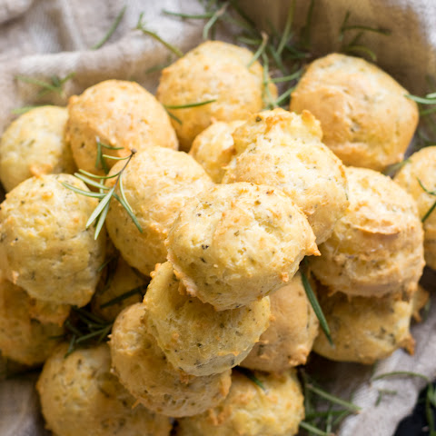 Rosemary and Parmesan Cheese Gougères, French Savory Cheese Puffs