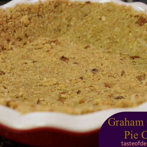 Graham Cracker Pie Crust with Coconut and Pecans
