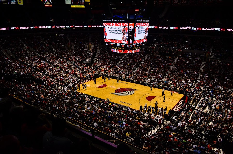 Rip City - Home of Trail Blazers by Shadman Samin - Sports & Fitness Basketball ( basketball, oregon, rose garden arena, portland, trailblazers, arena )