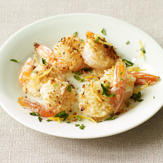 Lemon and Garlic-Crumb Shrimp