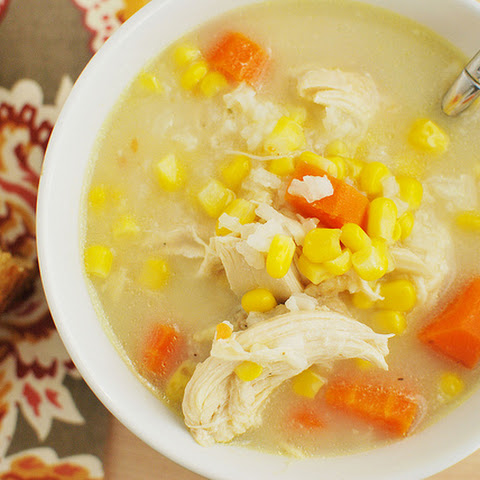 Slow Cooker Creamy Chicken and Rice Soup