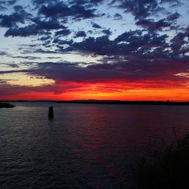 Sunset 7-1-15 by Camille Spicer - Landscapes Sunsets & Sunrises (  )