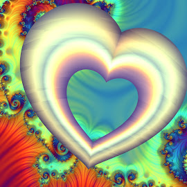 Heart 2 by Cassy 67 - Illustration Abstract & Patterns ( hearts, heart, valentines, swirl, wallpaper, spiral, digital, valentine´s day, love, digital art, harmony, fractal, light, fractals )