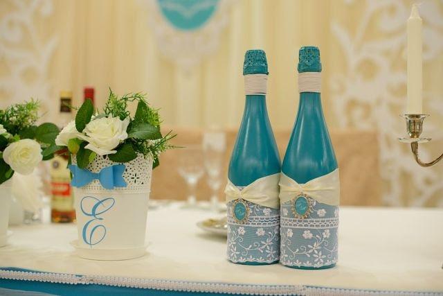 Как и чем покрасить бутылку шампанского на свадьбу