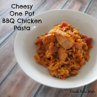 Cheesy One Pot BBQ Chicken Pasta
