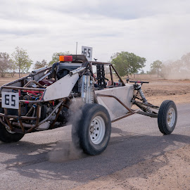 Layin' rubber by Suzanne McCowen - Sports & Fitness Motorsports ( #fun, #motorsports, #outbackqueensland, #layin'rubber, #buggy,  )