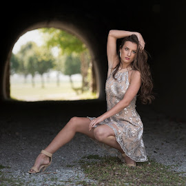 Laney by Stacey Bates - People Fashion ( woman, model, portait, tunnel, fashion )