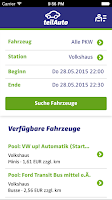 Screenshot of teilAuto Carsharing