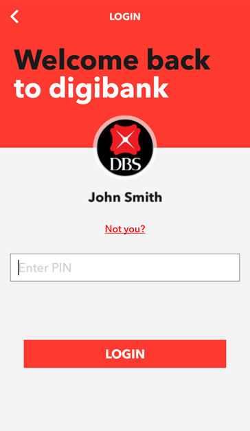 DBS digibank SG Screenshot