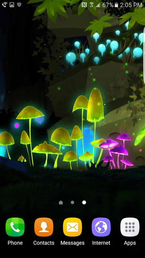 Fantasy Mushroom Jungle LWP Screenshot 5