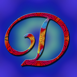 Alphabet -D by Dipali S - Typography Single Letters ( headline, graphic, decorative, illustration, yellow, type, quote, calligraphy, inscription, place, note, classic, typographic, template, icon, element, d, text, creative, decoration, letter, font, art, advertisement, calligraphic, message, sign, frame, red, blue, background, artistic, alphabet, typography, english, design )