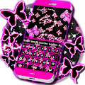 Neon Butterflies Keyboard APK for Bluestacks