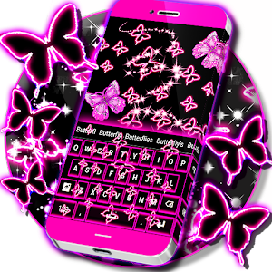 Neon Butterflies Keyboard   Android Apps On Google Play