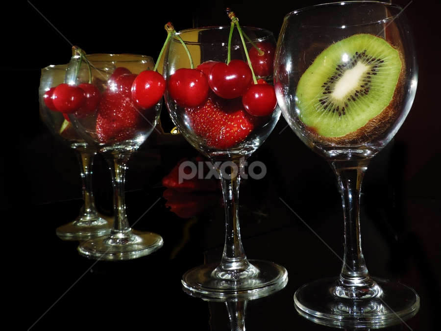 fruits in the glass by LADOCKi Elvira - Food & Drink Fruits & Vegetables ( fruits )