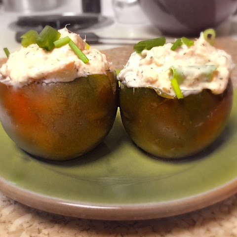 Greek Yogurt & Tuna Stuffed Tomatoes