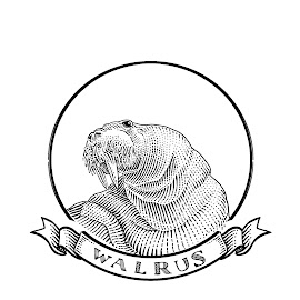 Walrus by August Rats - Illustration Animals ( stippledrawing, lineart, walrus )