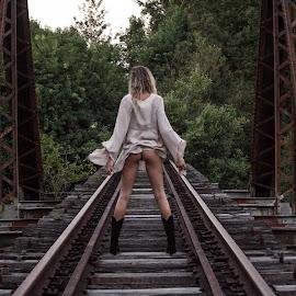 rails by Daniel Jamieson - Nudes & Boudoir Artistic Nude ( beautiful, sexy, model, blonde, bum, nude, booty )