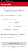 Screenshot of Urlaubsplaner