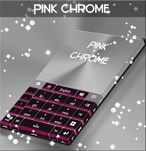 Download Pink Chrome Keyboard Theme APK for Android Kitkat