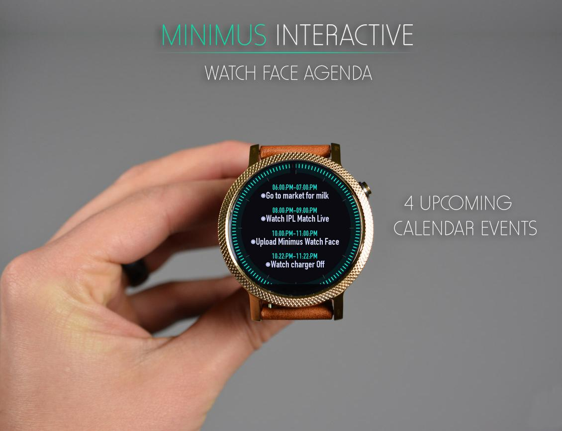 Minimus Interactive Watch Face Screenshot 4