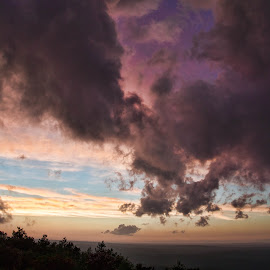 After the Storm by Tarea J Roach-Pritchett - Landscapes Cloud Formations ( cloud formations, clouds, mountain, sunset, storms,  )