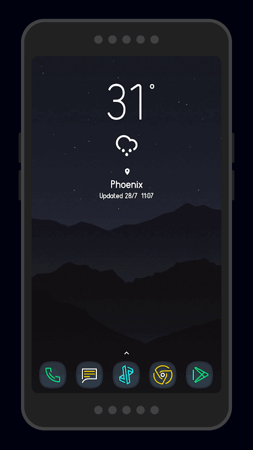 Nightmare Squircle ~ Dark S8/Note8 Icon Pack Screenshot 4