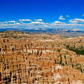 Byrce Canyon by Michael Villecco - Landscapes Caves & Formations ( colorful, utah, open space, hoodoos, bryce canyon,  )