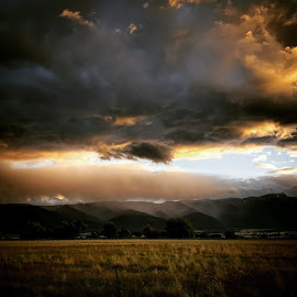 Sunset by D.j. Nichols - Instagram & Mobile Android ( mountains, sunset )