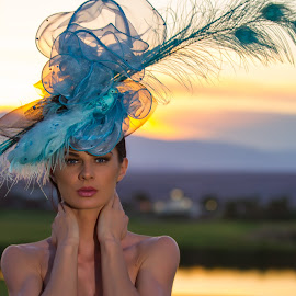 oh, and what a fascinator can do to an already pretty face ! by David Senecal - People Portraits of Women (  )