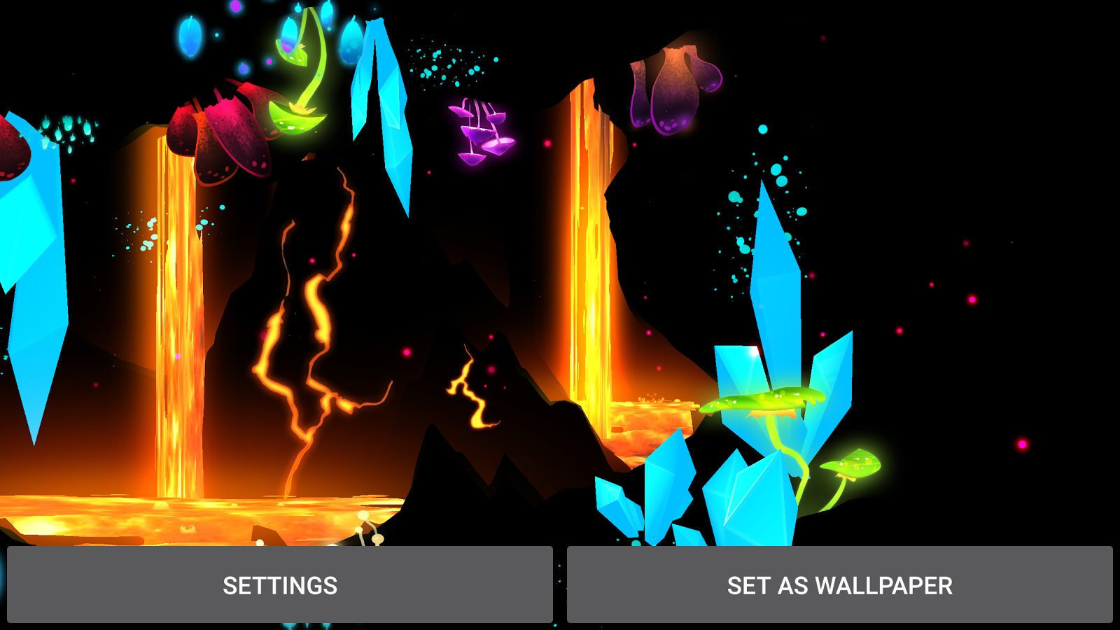 3D Fantasy Epic Lava Cave LWP Screenshot 13