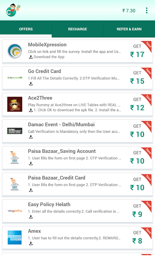 Free Mobile Recharge - CashOn Screenshot 3