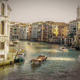 Grand Canal by Heather Allen - City,  Street & Park  Street Scenes (  )